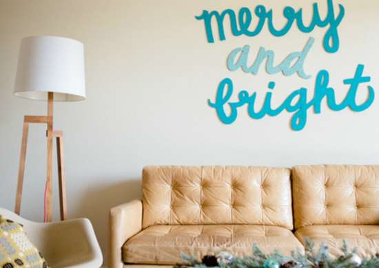 Merry bright sign