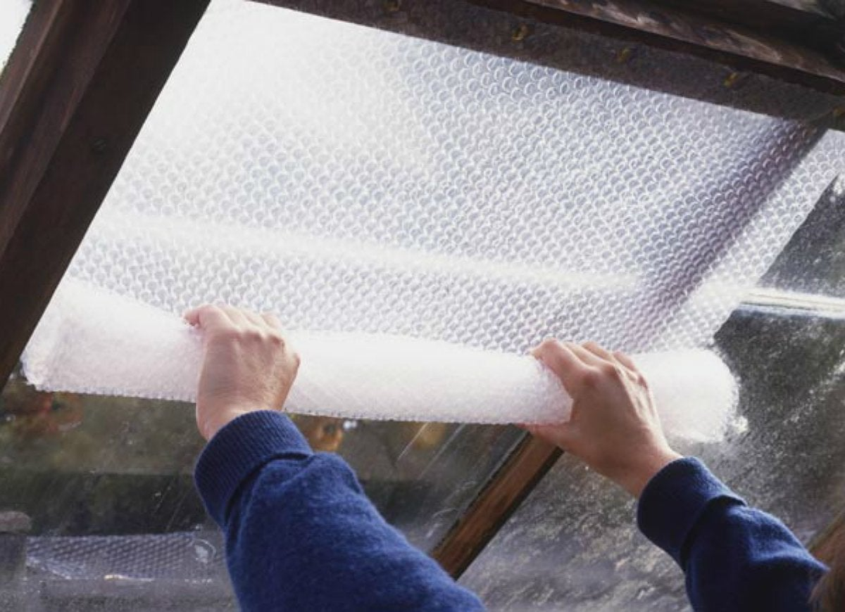Bubble wrap windows