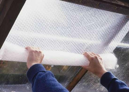 Bubble wrap windows