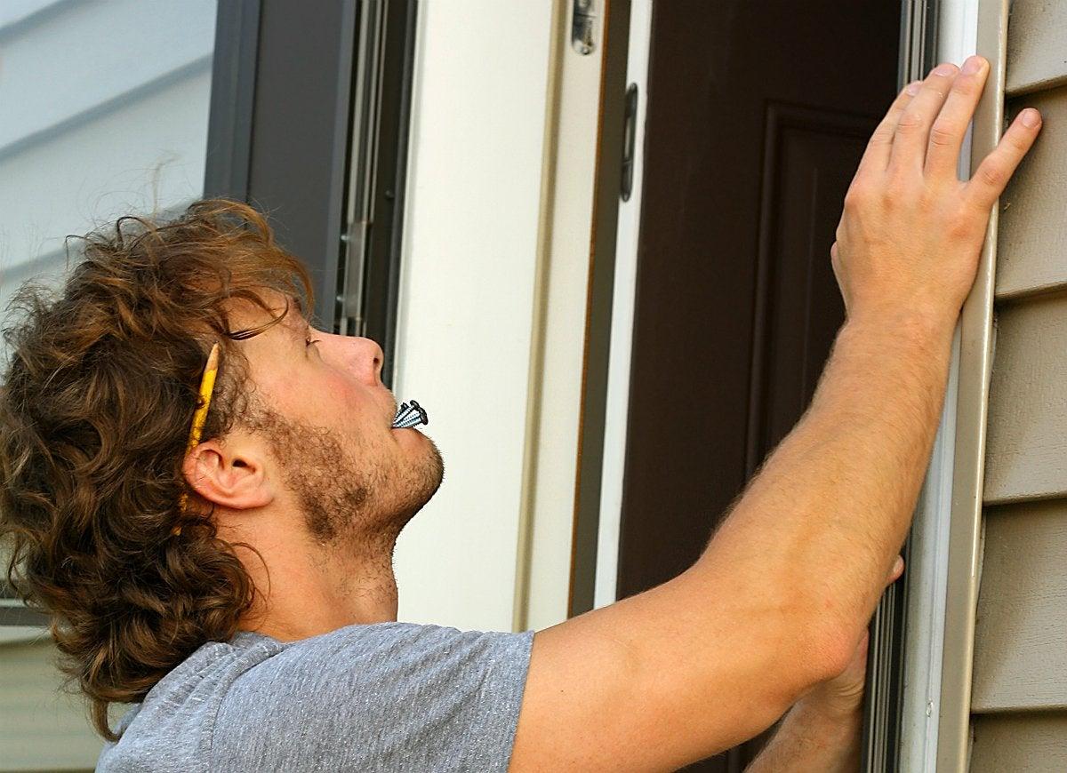 Install storm doors