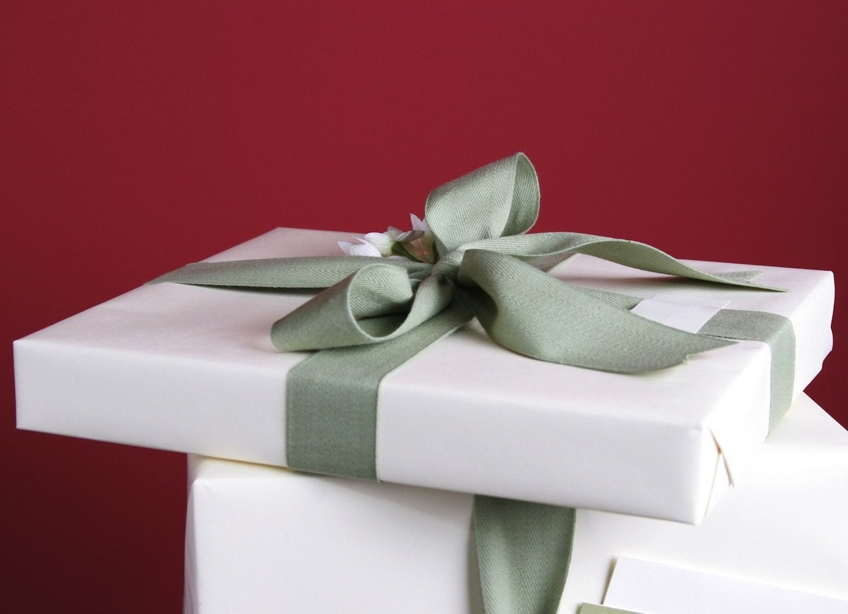 Hide christmas clutter in a box