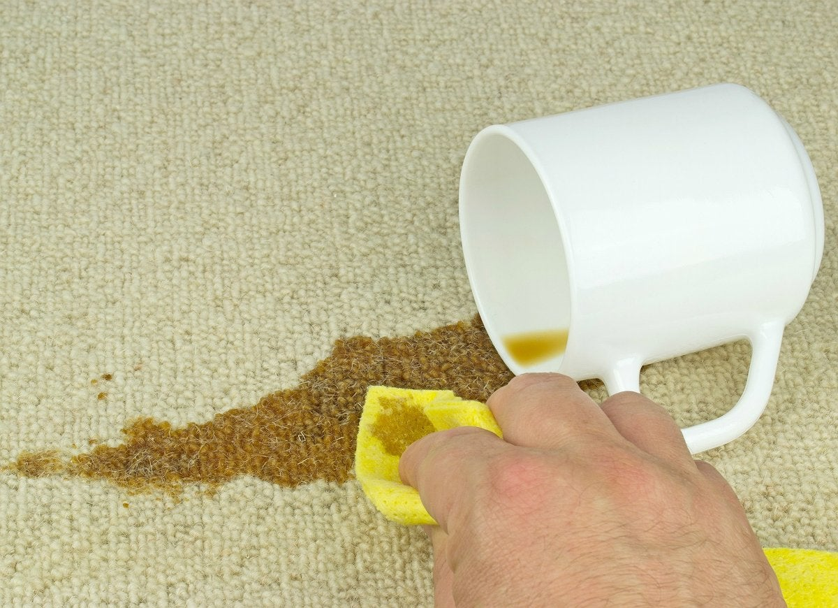 Removing carpet stains