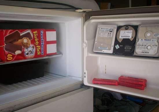 Things your freezer can do   hard drive