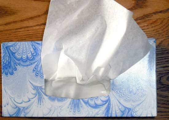 Keep tissue boxes around the house