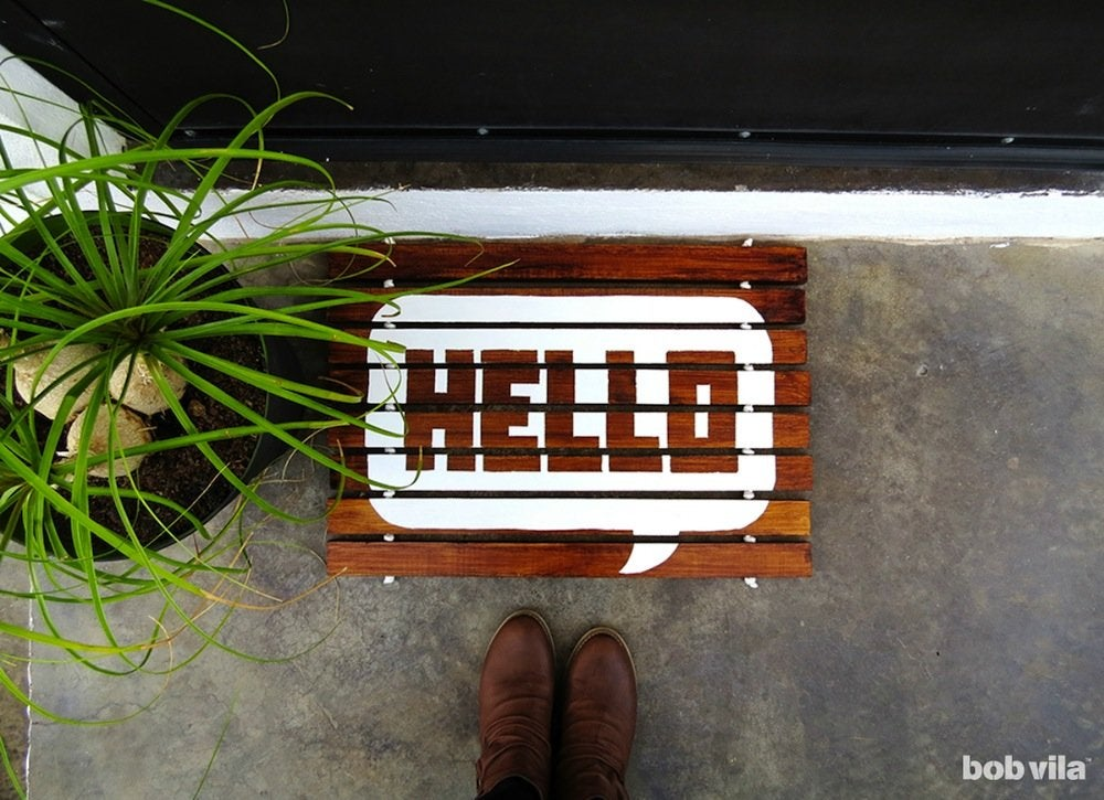 Diy wooden doormat bobvila