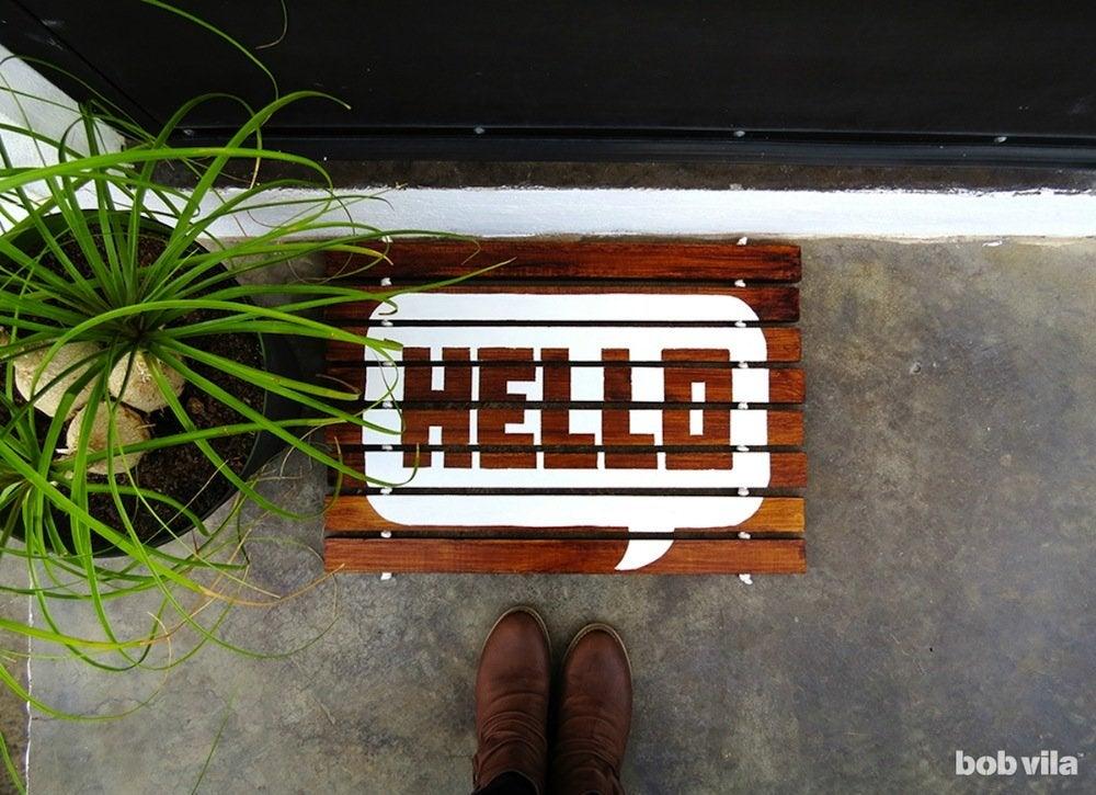 Diy wooden doormat bobvila