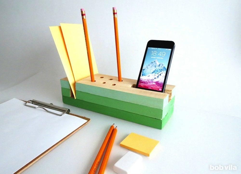Diy wooden desk organizer main 2