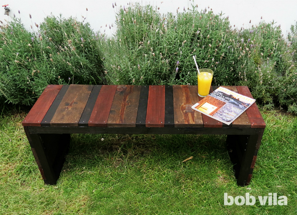 Diy lite outdoor bench