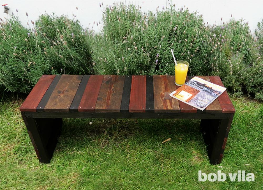 Diy lite outdoor bench