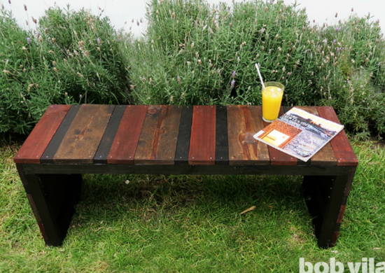 Diy-lite-outdoor-bench