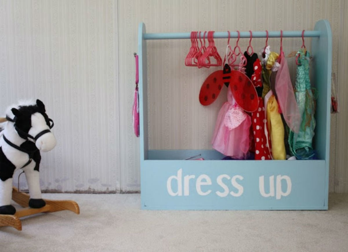 Toy storage   dress up rack