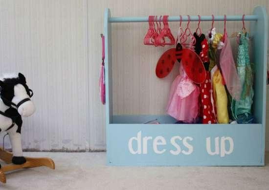 Toy storage   dress up rack