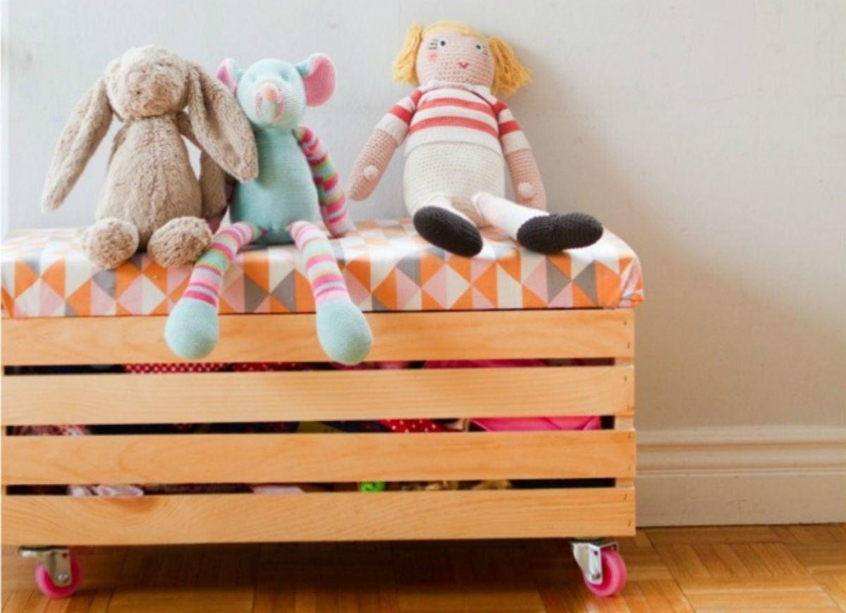 Toy storage   rolling toy box