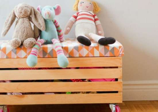 Toy storage   rolling toy box