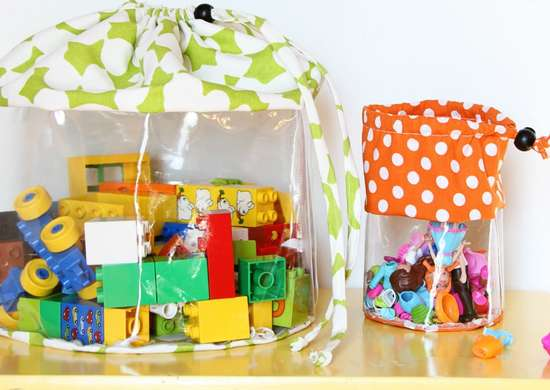 Toy storage   clear bags