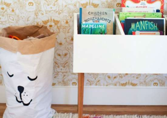 Toy storage   book bins