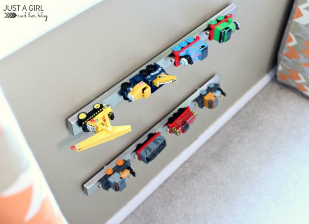 Toy storage   magnetic strip