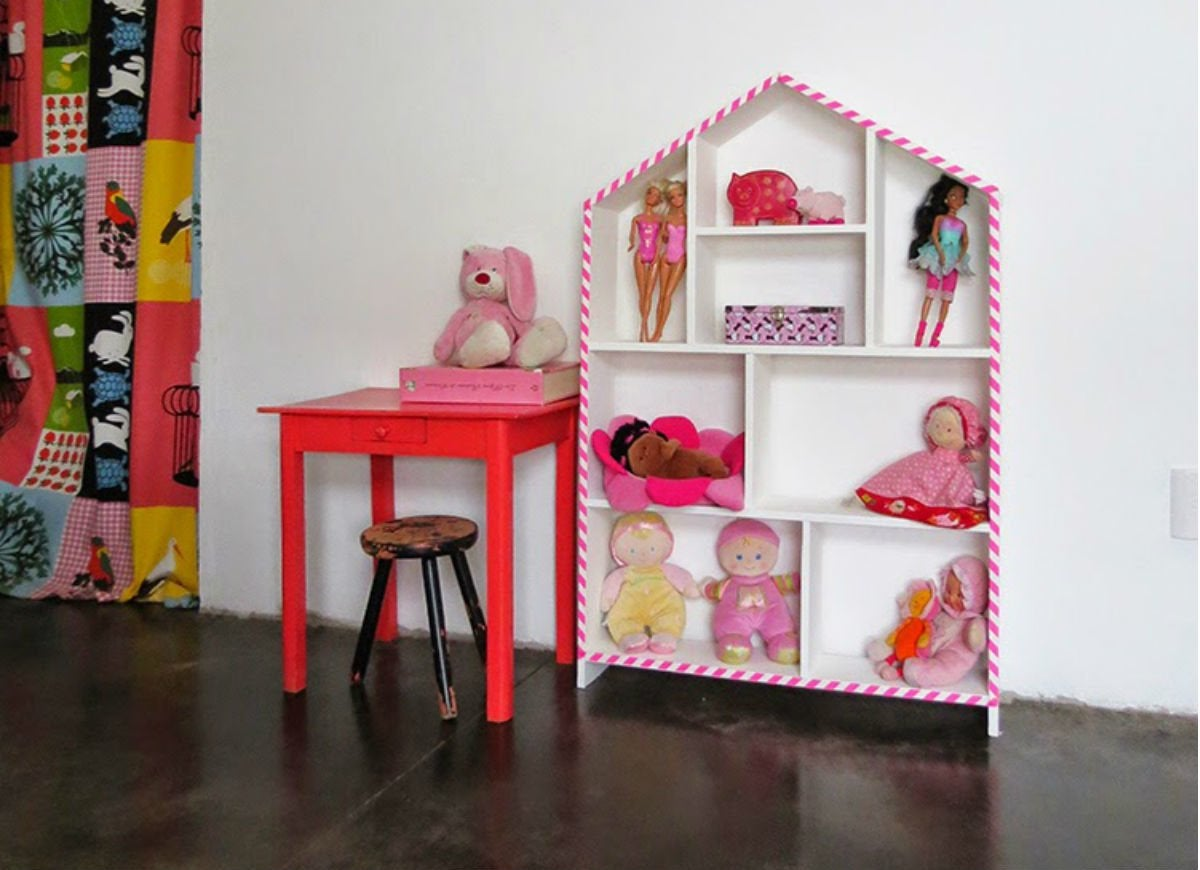 Toy storage   house shelf