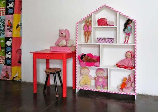 Toy storage   house shelf