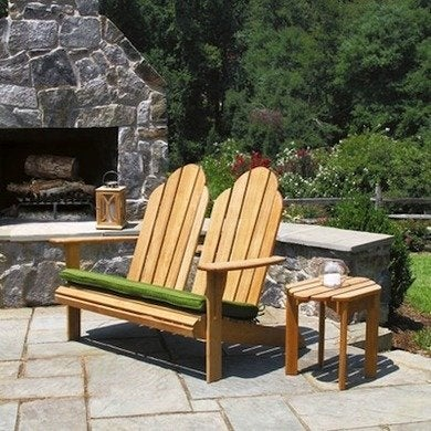 Countrycausal teak adirondack loveseat 7252 2