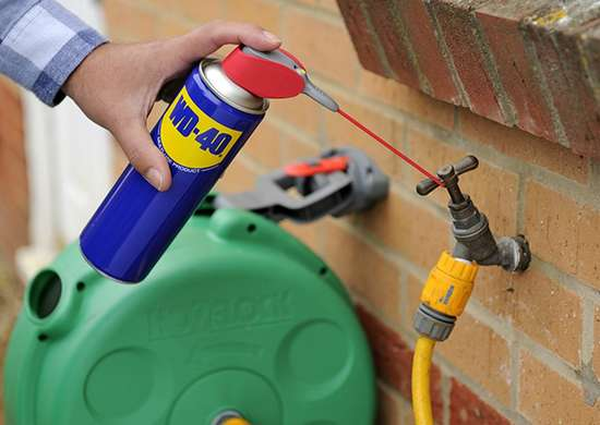 WD-40 for Pipe Joints
