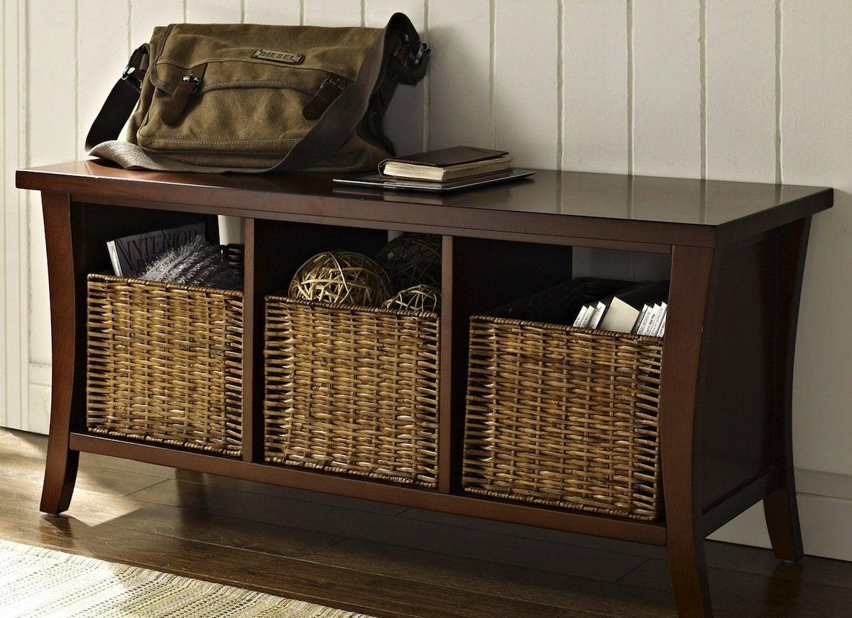 Mudroom Storage Baskets : Add storage to your entryway new start ways