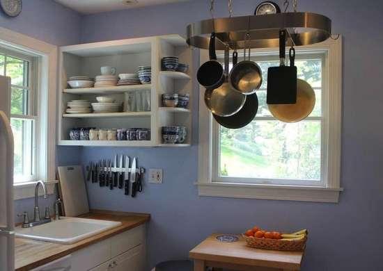 kitchen pot rack storage 18 storage ideas for small