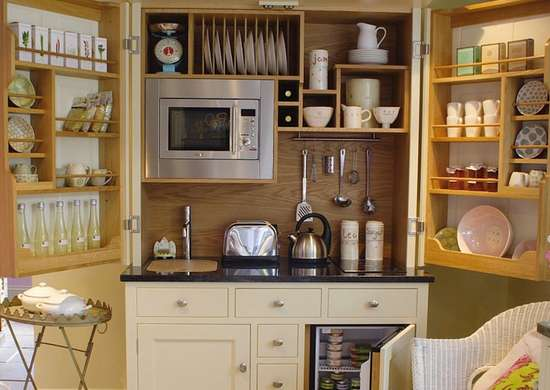 Tiny kitchen storage