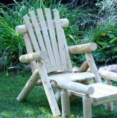 Bobvilashop lakeland mills rustic lounge adirondack chair