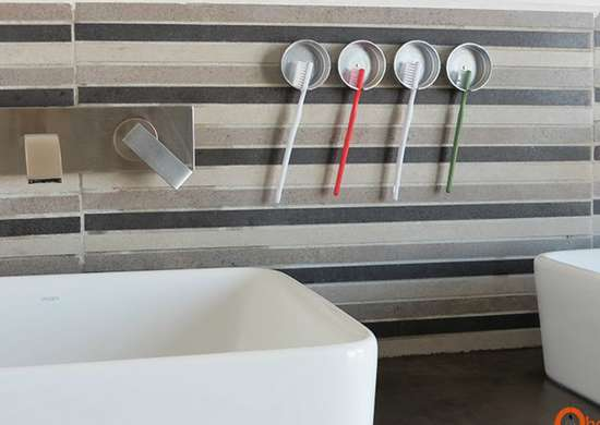 Store Your Toothbrushes with Jar Lids
