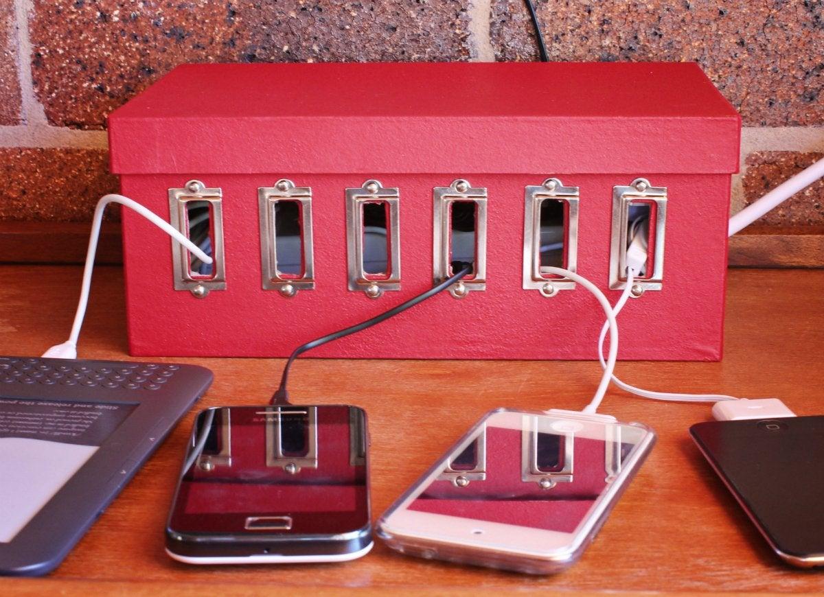 Charging station storage