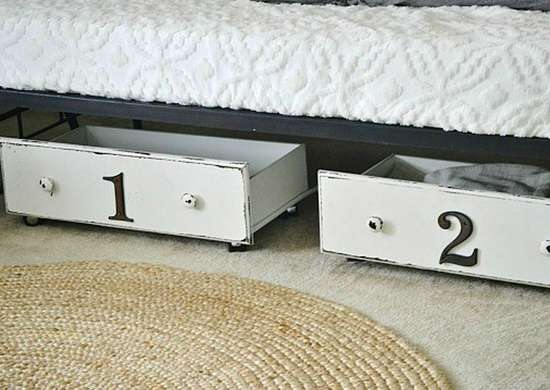 Convert Dresser Drawers to Simple Underbed Storage