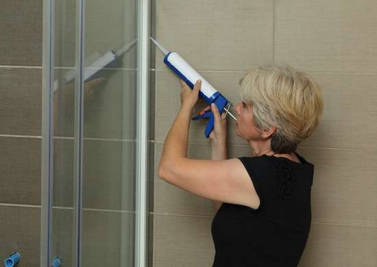 Caulk shower