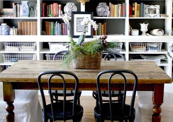 Dining room library