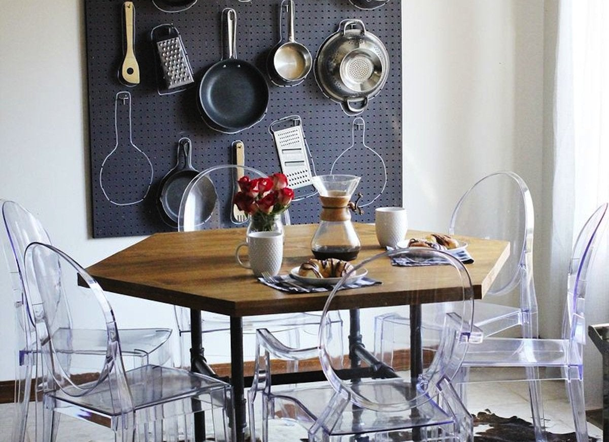 Exceptional Photo: Abeautifulmess.com. Practical Storage Doubles As Wall Art In This  Ingenious DIY Dining Room Idea.