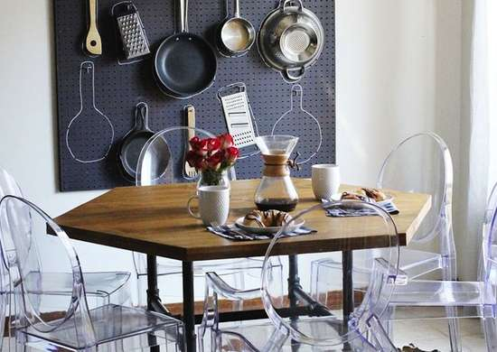 Add storage to a small dining room