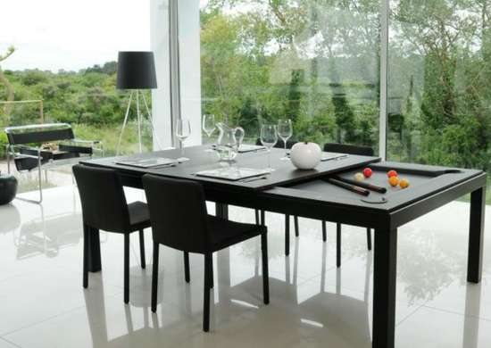 Use convertible furniture in a dining room
