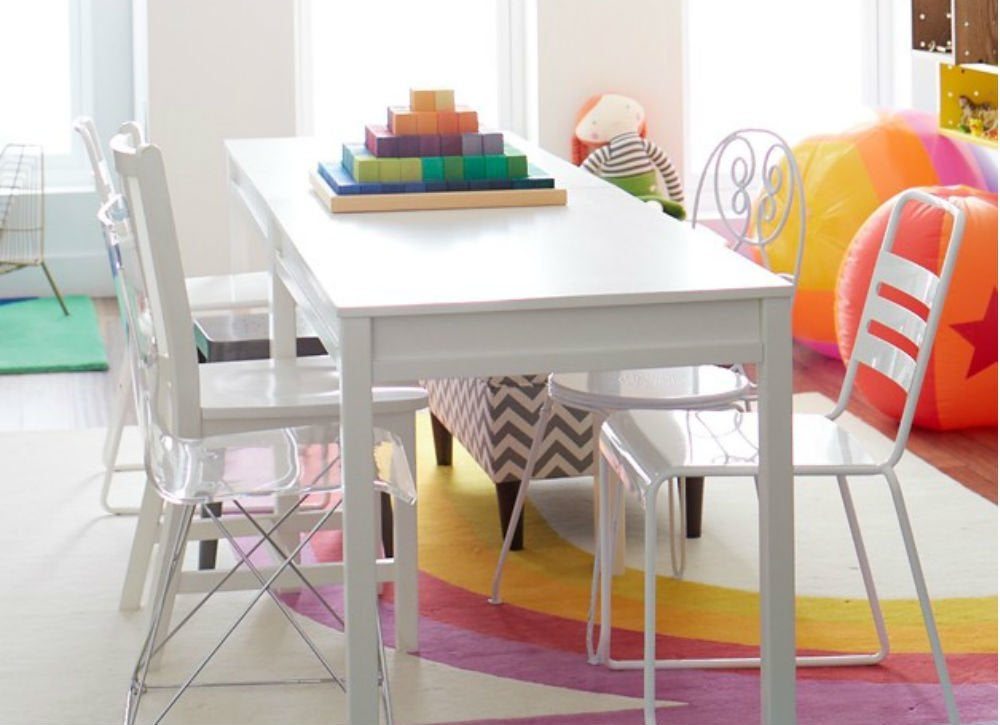 Double duty dining room   playroom
