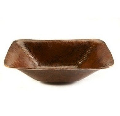 Premiercopperproducts rectangle hand forged coppervessel sink