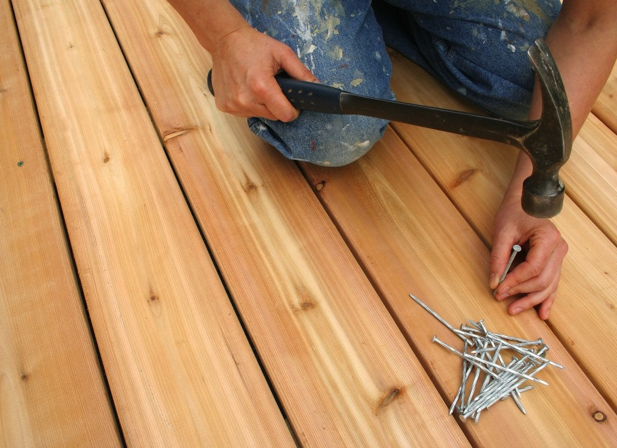 Fixing a deck