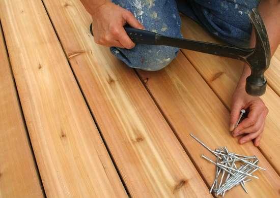 Fixing a deck