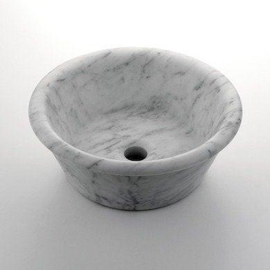 Waterworks round marble vessel sinktnsk01