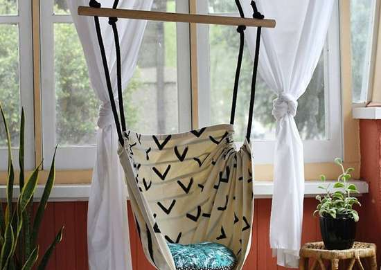 DIY Canvas Swing
