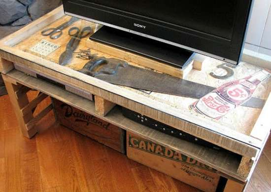 Build a TV Stand from Pallets