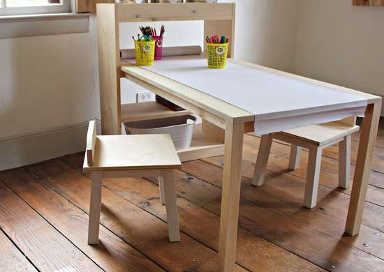 DIY Arts and Crafts Table for Kids