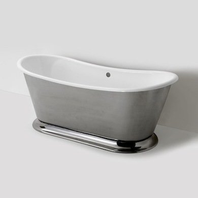 Waterworks mabt01 margaux curved freestanding tub
