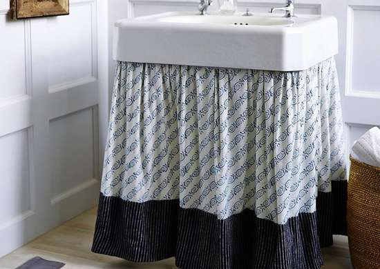 Skirt for a Pedestal Sink