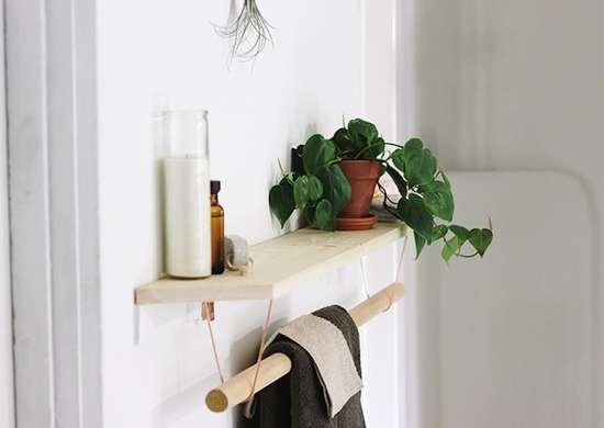 Towel Holder with a Shelf