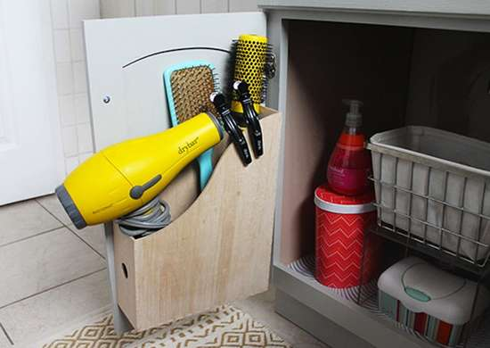 Magazine Holder as Bathroom Storage