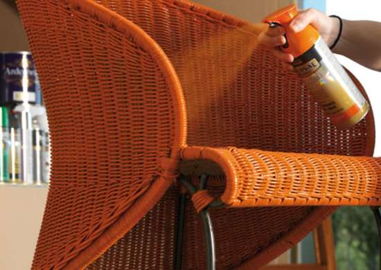 Spray Paint Wicker